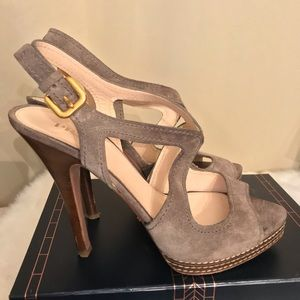 Prada Slingback Heels, Size 41/9.5 US